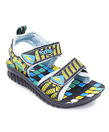 Footfun Floater Sandals With Velcro Closure - Multi Color