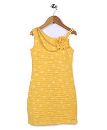 Lei Chie Straight Fit Party Wear Dress - Yellow