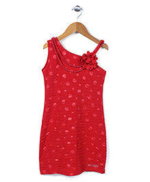 Lei Chie Straight Fit Party Dress - Red