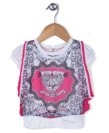 Lei Chie Printed Casual Top - Pink