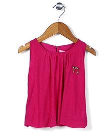 Lei Chie Power Net Detachable Neckline Top - Pink