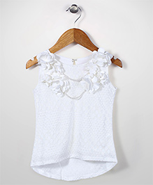 Lei Chie Frilled Party Top - White