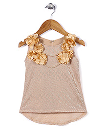 Lei Chie Frilled Party Top - Beige