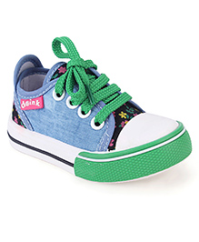 Doink Canvas Shoes  - Green White