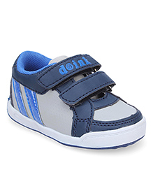 Doink Casual Shoes Logo Design - Grey Navy