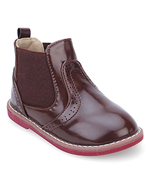 Doink Ankle Length Boots - Brown