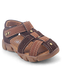 Doink Sandals With Velcro Closure - Brown