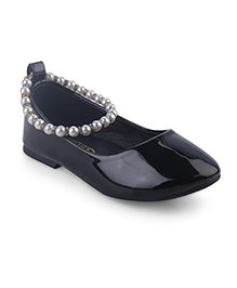 Doink Belly Shoes Pearl Detail - Black