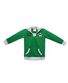 Eimoie Hello Girls Print Sweatshirt - Green