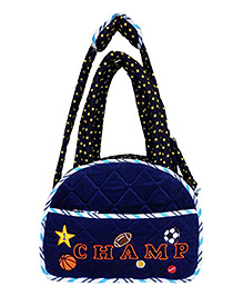 Little Pipal Sports Diaper Bag And Changing Mat - Blue