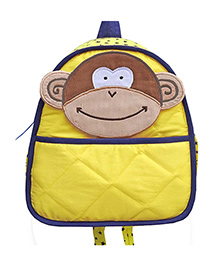 Little Pipal Jungle Collection Monkey Toddler Backpack Yellow And Brown - 11 Inches