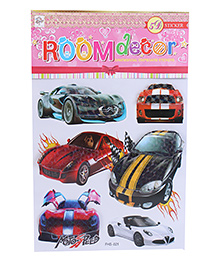 Room Decor Sports Cars Theme Wall Stickers - Multicolor