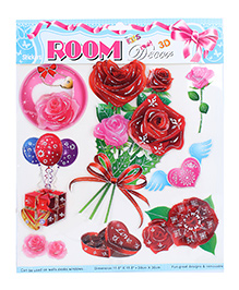 Room Decor Gifts Wall Stickers - Red And Pink