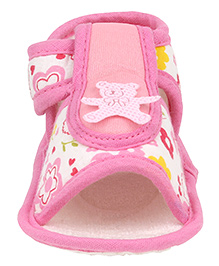 Beebop Teddy Bear Velcro Booties - Pink