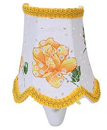 Mini Night Lamp Rose Flower Print - Yellow And Green
