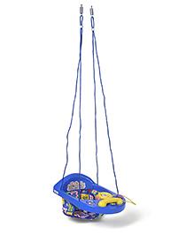 New Natraj Activity Swing With Play Tray Cake Print Blue - 028