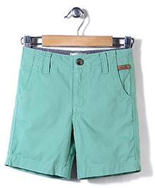 Police Zebra Juniors Solid Color Shorts - Green
