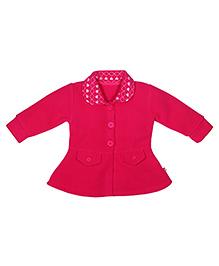FS Mini Klub Full Sleeves Polar Fleece Jacket - Fuschia Pink