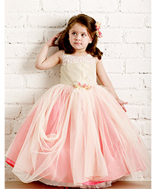 PinkCow Frill Party Dress - Peach