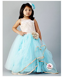 PinkCow Frill Party Dress - Sky Blue
