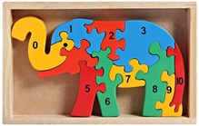 Little Genius - Wooden Counting On Elephant
