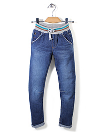 Mothercare Rib Waist Jeans - Blue