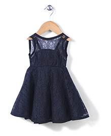 The Kidshop Flower Print Dress - Black