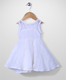 The Kidshop Flower Dress - White