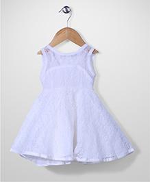 The Kidshop Flower Dress - White