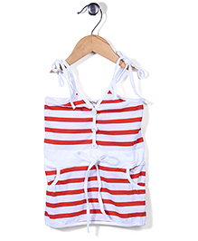 The Kidshop Stripe Dress - Red & White