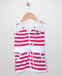 The Kidshop Stripe Dress - Pink & White