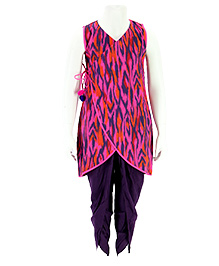 Pixi Kurta & Dhoti Pants - Pink & Purple