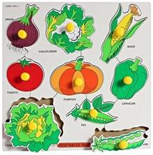 Little Genius -  Wooden Vegetables Large With Big Knob