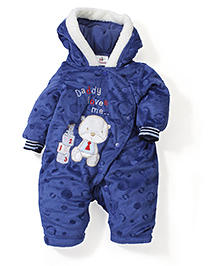 Swan Full Sleeves Romper Daddy Loves Me - Royal Blue