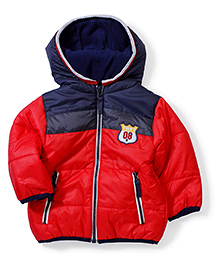 Swan Full Sleeves Hooded Jacket - Red