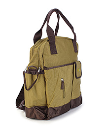 Mother Bag With Changing Mat - Green