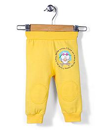 Babyhug Full Length Printed Track Pants - Yellow