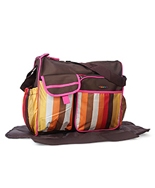Colorland Mother Bag With Changing Mat - Brown Pink