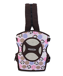 Colorland 4 Way Baby Carrier Pink Monkey Madness - Pink And Brown