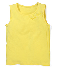 Mothercare Sleeveless Vest Top Bow Detail - Yellow