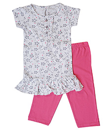 Earth Conscious Organic Cotton Top And Bottom Set - Pink