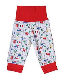 Earth Conscious Full Length Organic Cotton Pants - Red