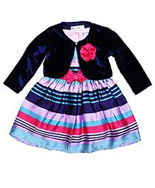 Soul Fairy Shrug With Striped Dress - Navy