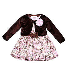 Soul Fairy Shrug With Striped Dress - Brown