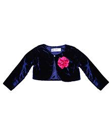 Soul Fairy Shrug With Corsage - Navy