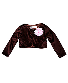 Soul Fairy Shrug With Corsage - Brown