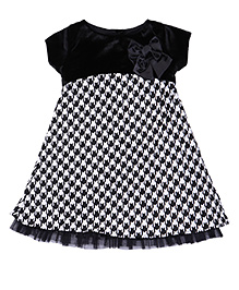 Soul Fairy Dress With Bow Detail - Black & White