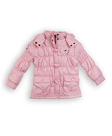 Lilliput Kids Full Sleeves Hooded Parka Jacket - Light Pink