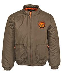 Bells and Whistles Full Sleeves Jacket - Brown