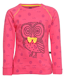 Bells and Whistles Full Sleeves Printed Sweatshirt - Pink